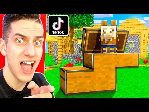 205 Testing 7 Viral Tiktok Minecraft Build Hacks To See If They Work Youtube Minecraft Build Hacks Minecraft Funny Animal Pictures