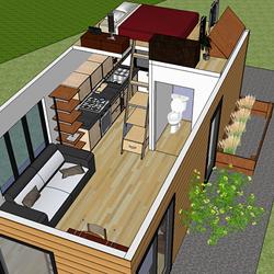 Mini maison qu bec mini maison inspiration pinterest for Mini maison usinee
