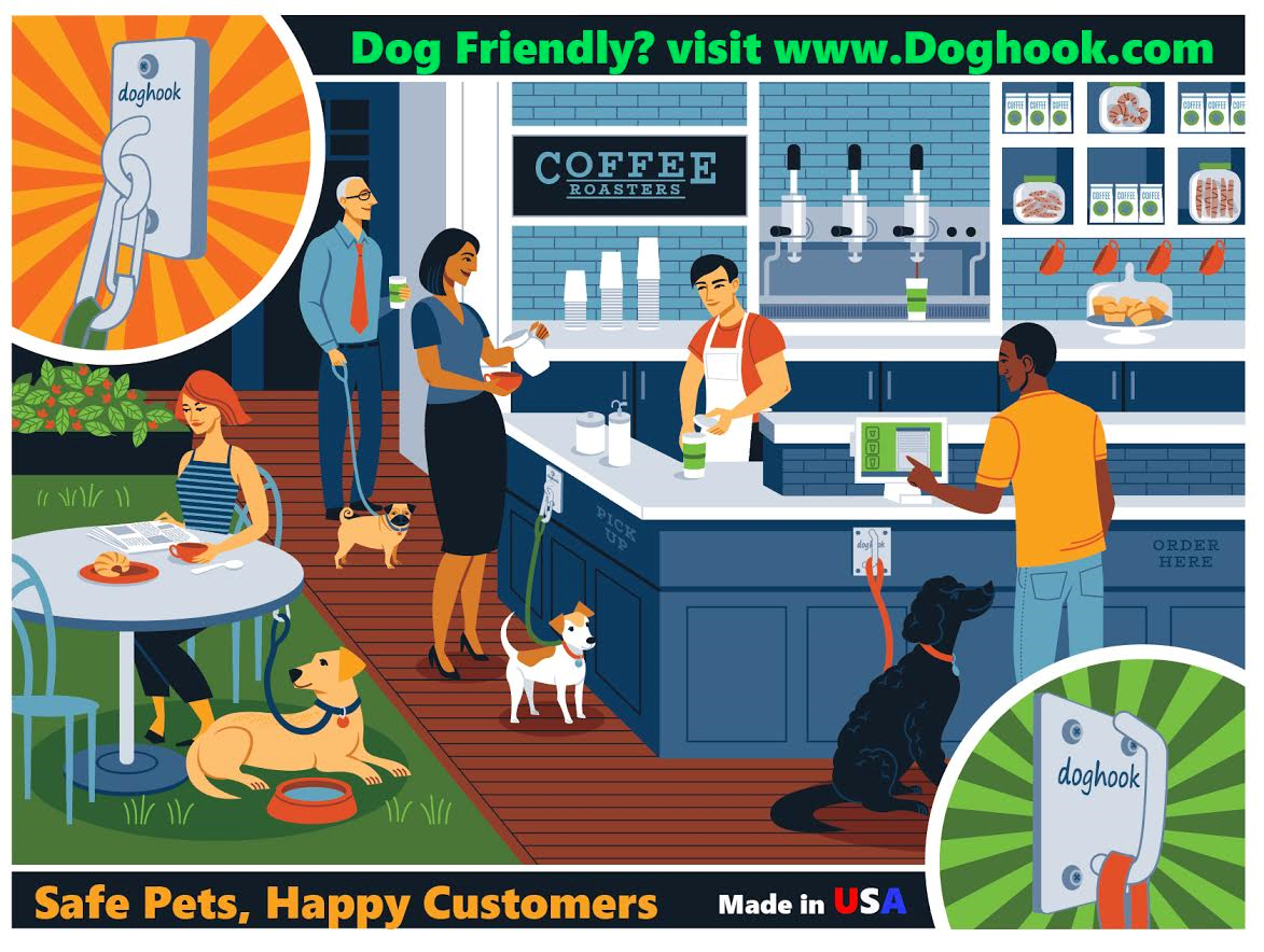 This Ad Says It All We All Love To Bring Our Pets With Us And This Company Makes It Easier For Both The Consumer And The Owner Ma Pet Cafe Dog