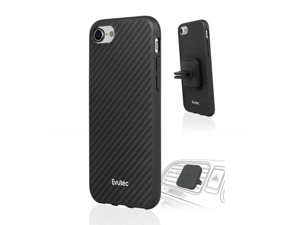 Evutec AER Karbon Black Case w/ AFIX Dash Mount for iPhone 7