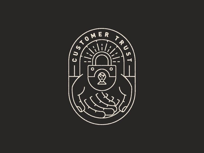 Trust Badge Cafe Logo Design Badge Design Hand Logo