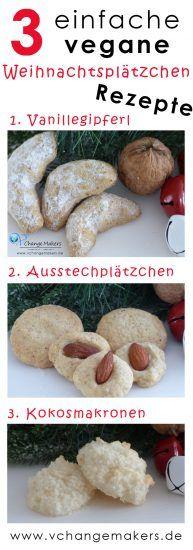 Vegane Weihnachtsplätzchen: 3 einfache Rezepte #cookiesalad