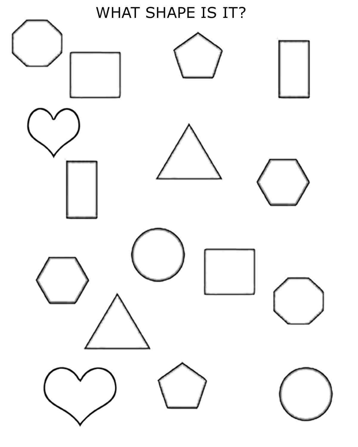 20 Shapes Worksheets For Kindergarten In