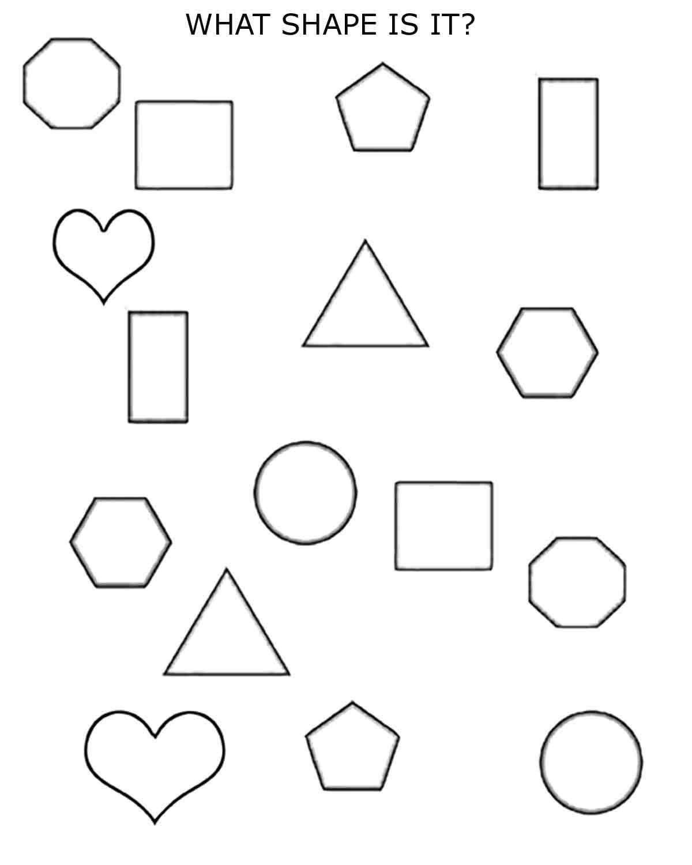 20 Shapes Worksheets For Kindergarten In