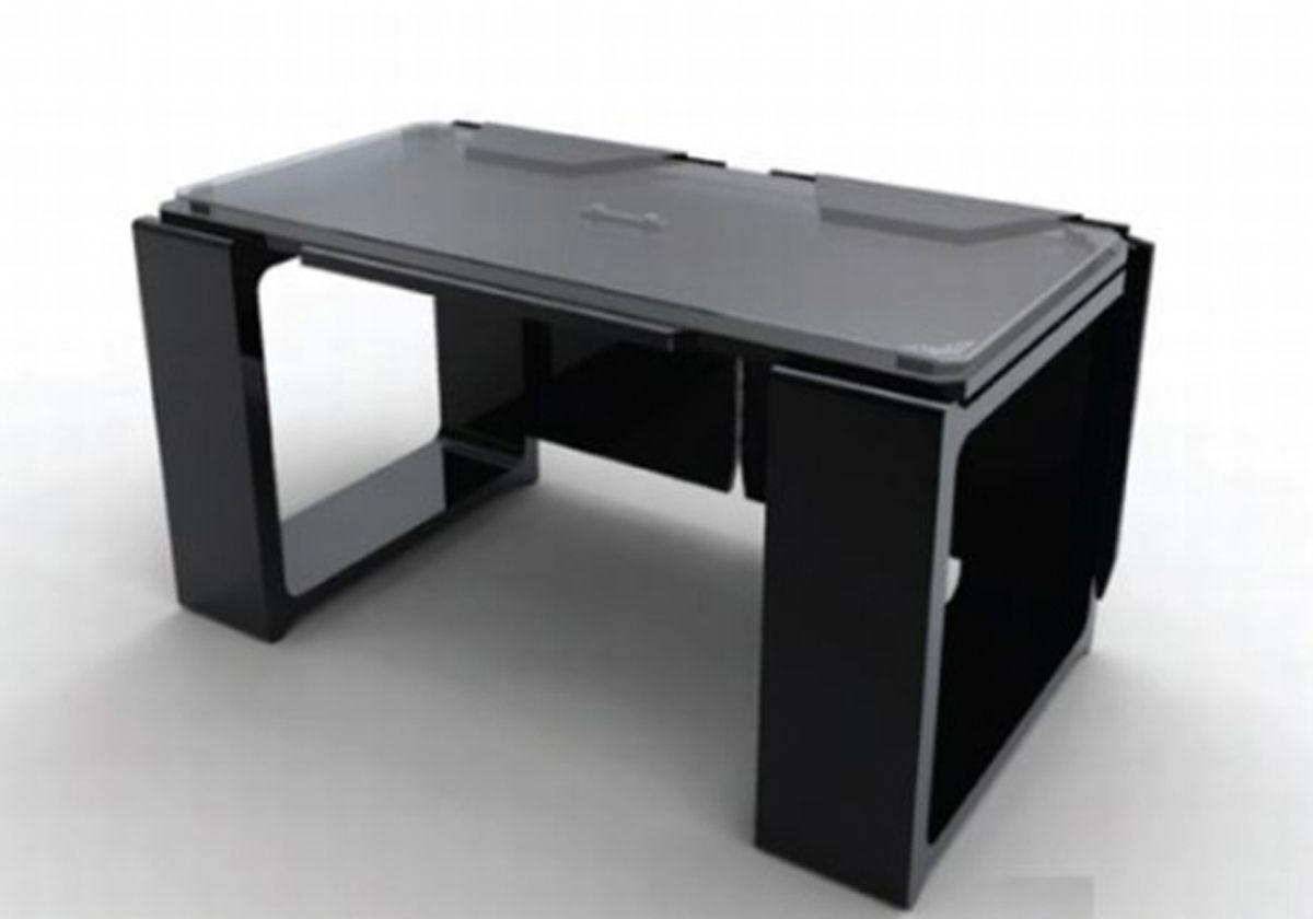 Computer Table Design For Office. Oak Wood Computer Desk For Home ...