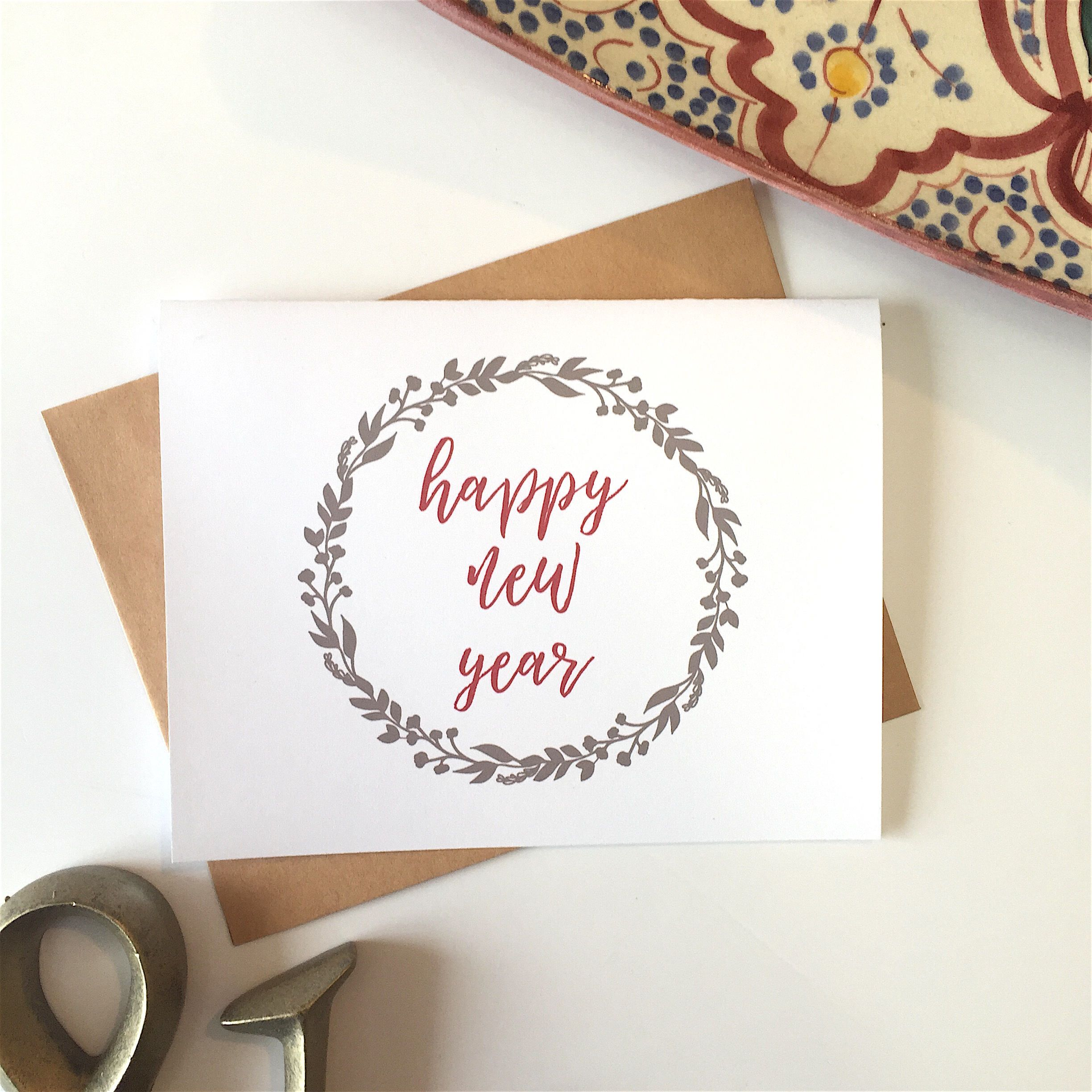 new years card new years eve happy new year card set new year