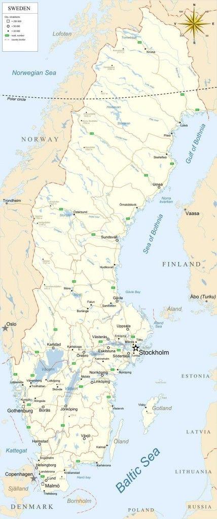 Good Map Of Sweden Sweden Map Sweden Sweden Cities