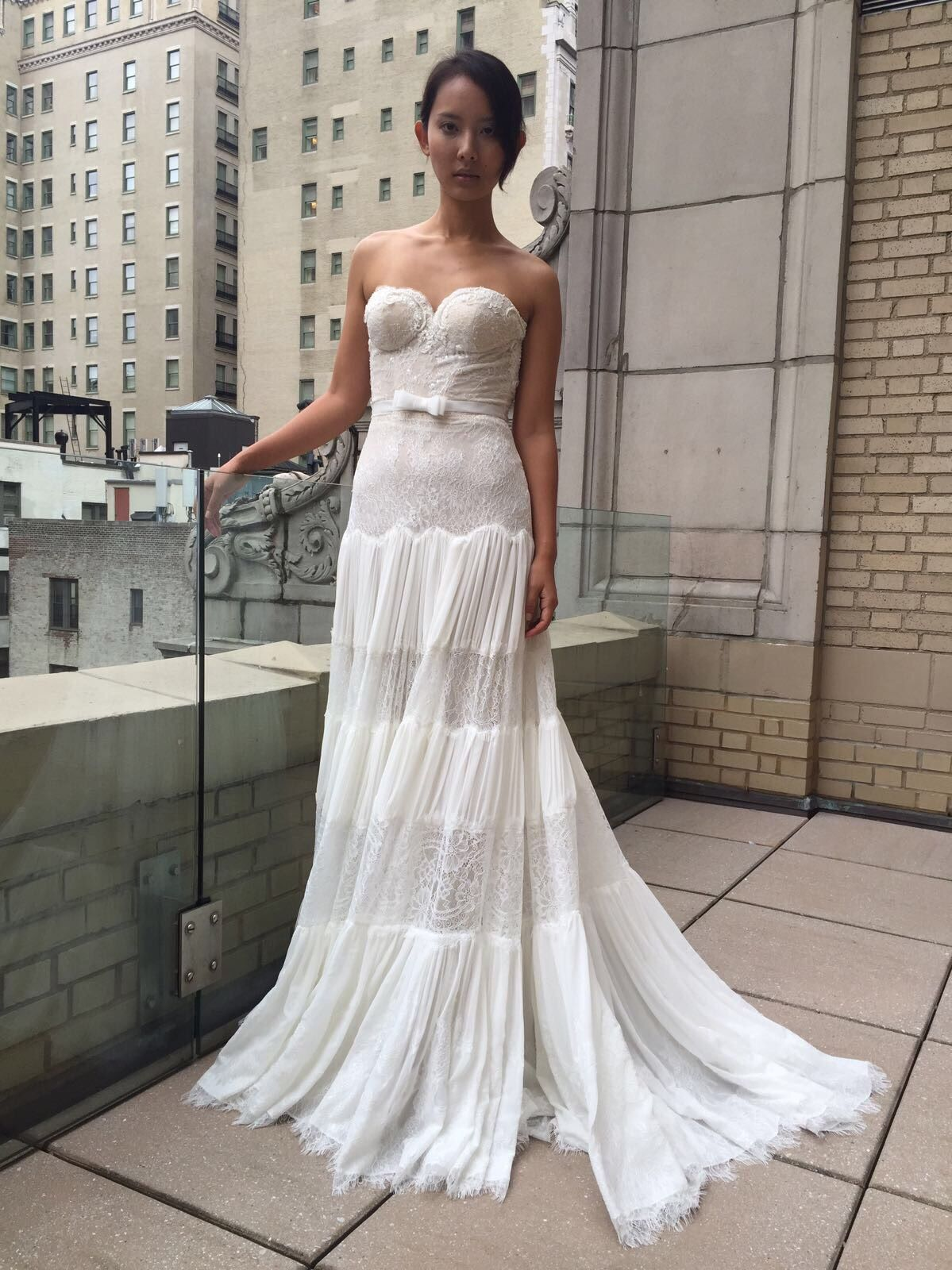 Boho hippie wedding dress  Lela Rose Sleeveless Bohemian Wedding Dress  sleeveless