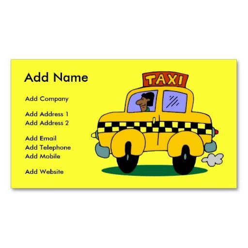 A Customizable Taxi Business\/Profile Card Business Card Make your - how to make business profile