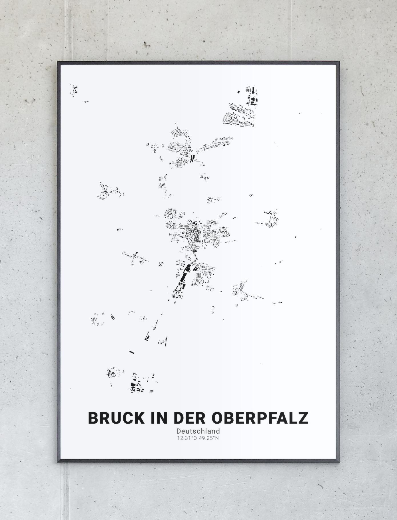 Schwarzplan Von Bruck In Der Oberpfalz Oberpfalz Pfalz Und Planer