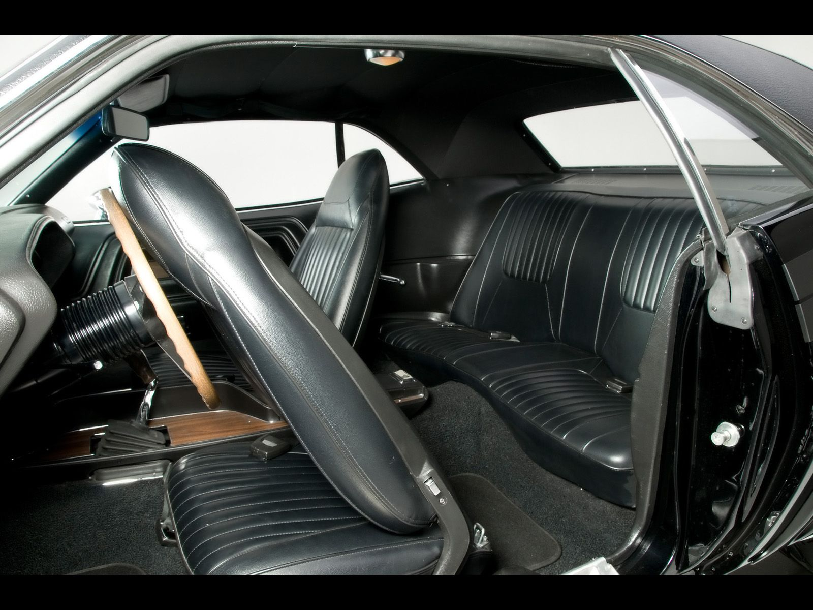1971 dodge challenger r t muscle car by modern muscle rear seats