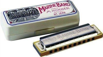 Hohner HO-189620DF Marine Harmonica Key D Flat by Hohner. $39.65. Marine Harmonica Key D Flat. 10 single holes. 10 reeds. Solid brass plates. Pearwood body. Length 4''.. Save 23%!