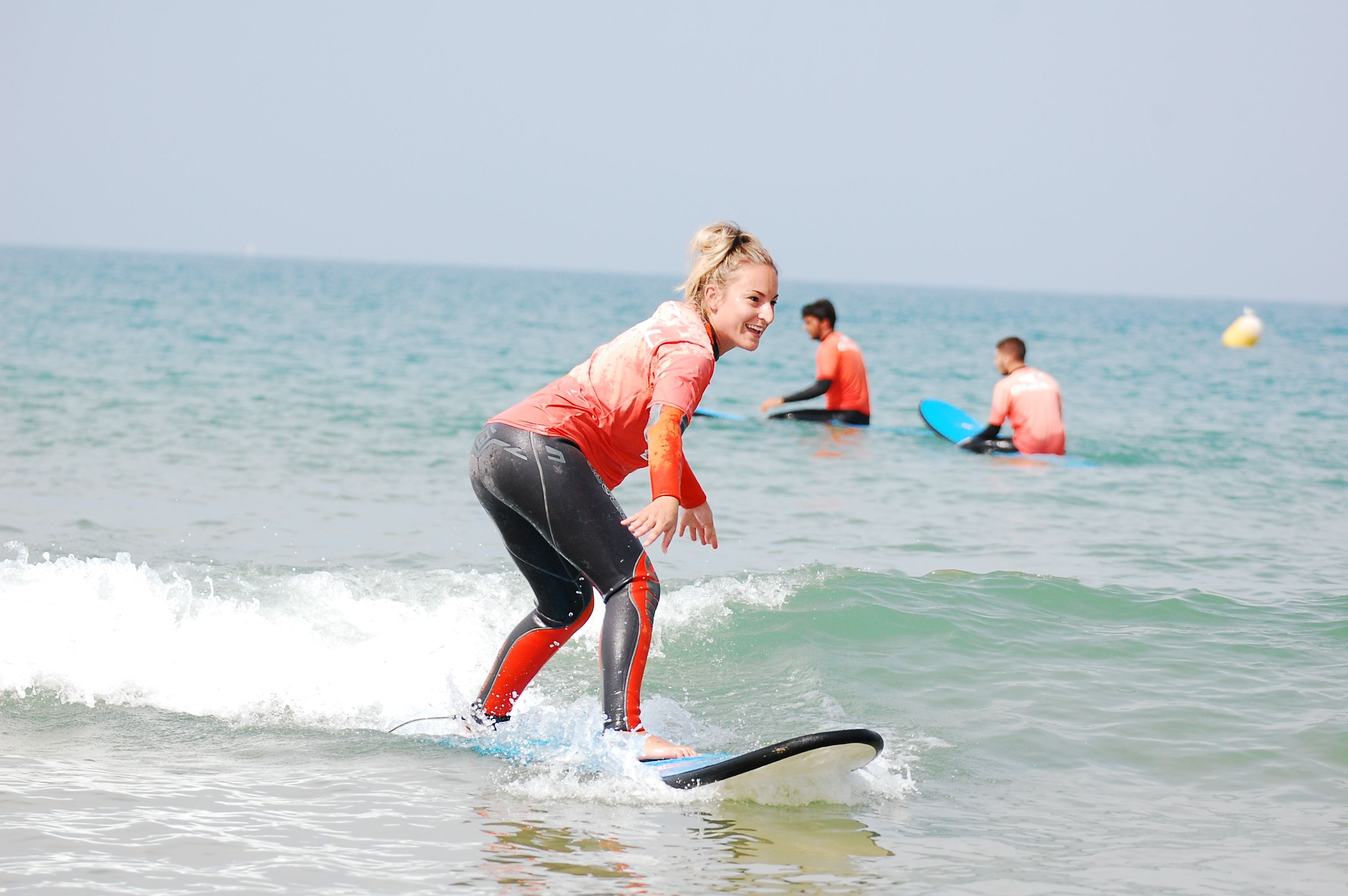 #GoLearnToSurf in Costa de la Luz, Spain. Repin if you remember your first time surfing!