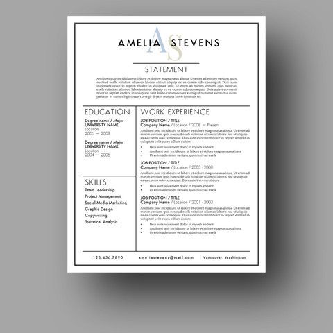The  - find resume templates