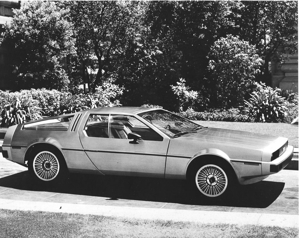 A Promotional Shot Of The First Delorean Dmc 12 Concept Car