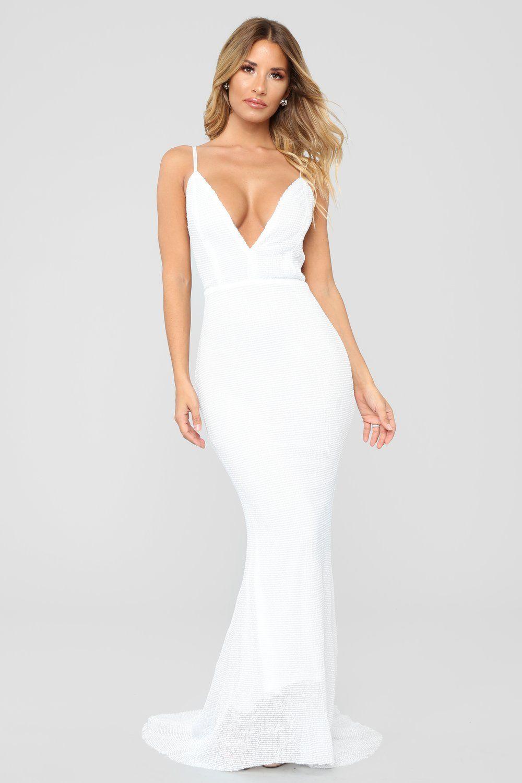 e403c7635d1e Sparkling Champagne Sequin Dress - White in 2019 | Dresses ...