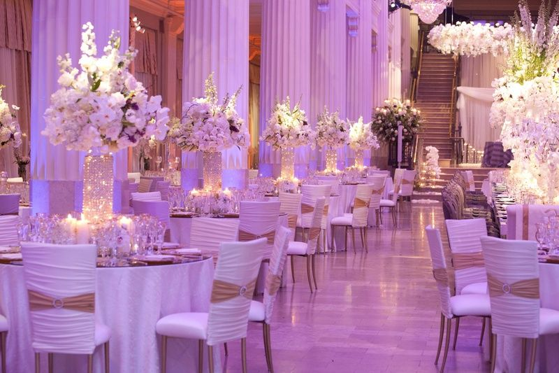 Purple Gold And White Wedding Theme