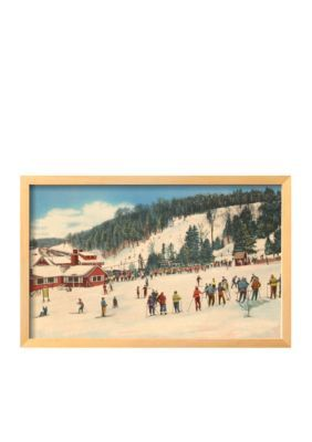 Art.com Assorted Skiing at Big Bromley Manchester Vermont Framed Giclee Print - Online Only
