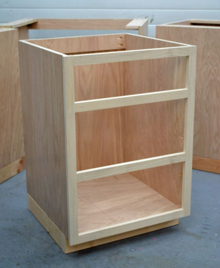 Building kitchen base cabinets 101 good to know for for Build kitchen island with cabinets