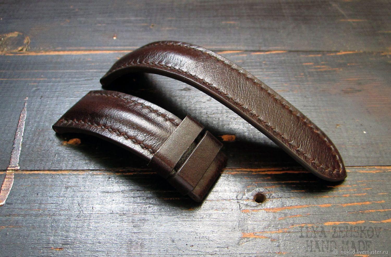 e490a184 Купить или заказать Кожаный ремешок для часов в интернет-магазине на  Ярмарке Мастеров. Ремешок