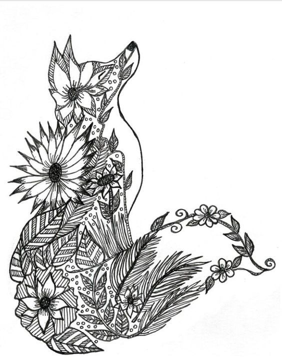 44++ F is for fox coloring page HD