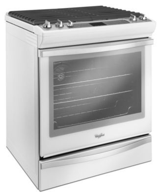 dreamin'  Whirlpool® 5.8 cu.Ft. Slide-In Gas Range with TimeSavor™ Plus True Convection- White Ice - Sears | Sears Canada
