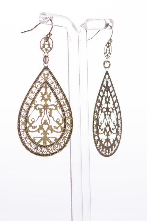 """""""Moroccan Cut Earrings, Gold"""""""