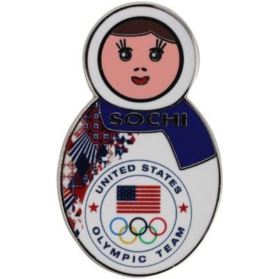 2014 USA Winter Olympics Sochi Nesting Doll Pin - SO getting one of these!!!!