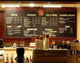 Coffee Shop Menu Ideas Coffee Shop Menu Coffee Shop Coffee Shop Business Plan