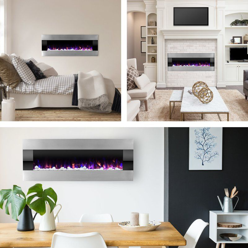 Quesinberry Wall Mounted Electric Fireplace Electric Fireplace