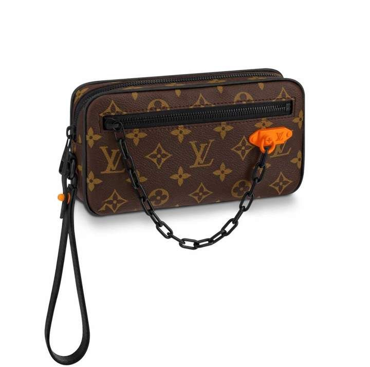 ea76f0a92b Louis Vuitton Pochette Volga Monogram Black Hardware Brown in 2019 ...