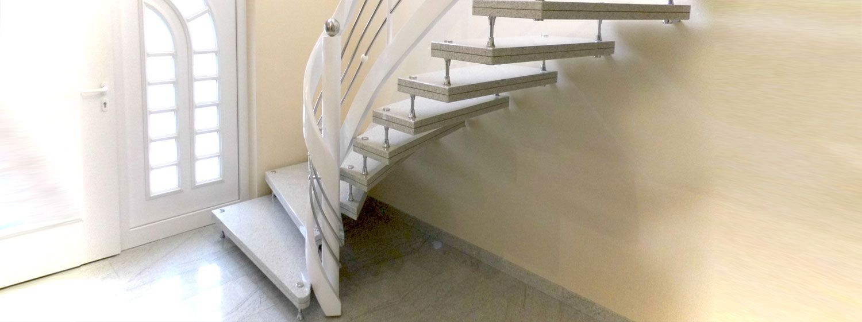 Granit Treppenstufen freitragende treppe aus grabnit mit edelstahlbolzen granittreppen