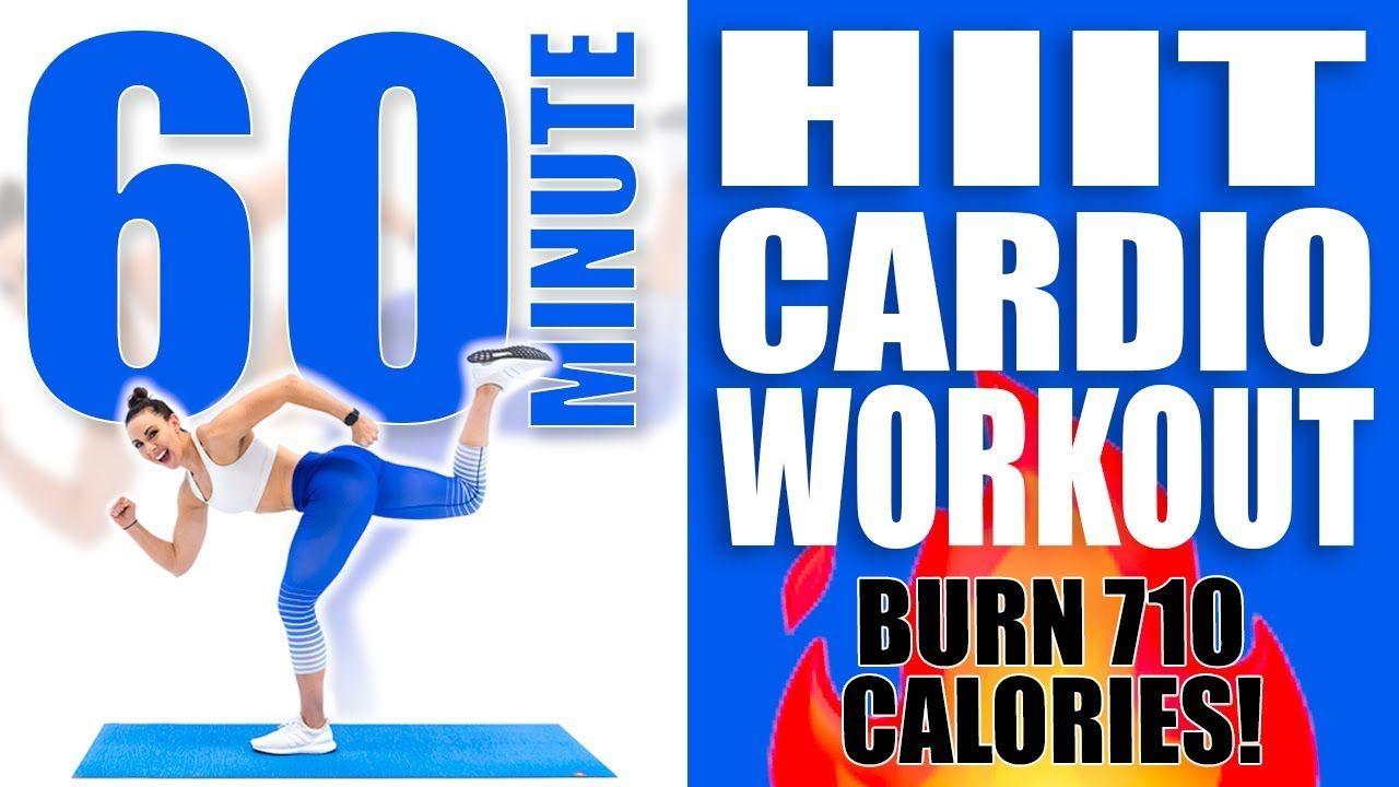 60 Minute HIIT Cardio Workout 🔥Burn 710 Calories