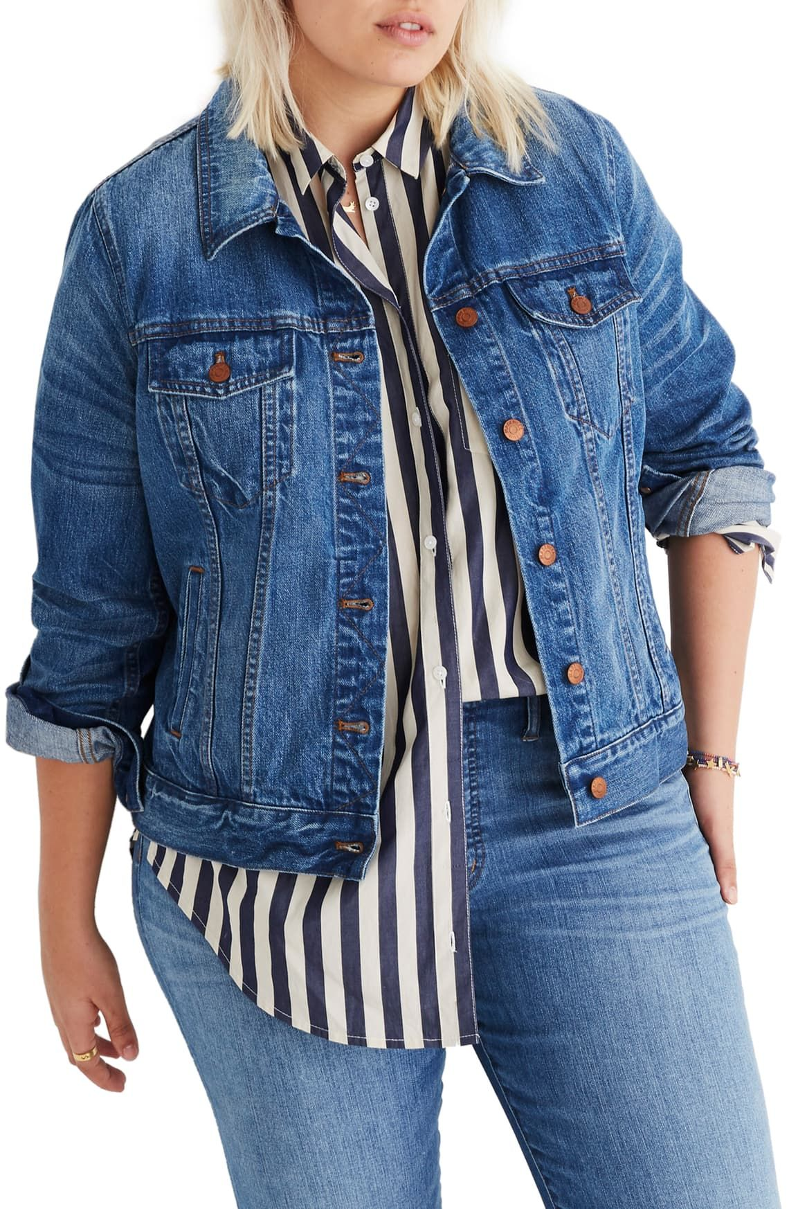 Madewell Denim Jacket Regular Plus Size Nordstrom In 2021 Madewell Denim Jacket Denim Jacket Classic Denim Jacket [ 1746 x 1140 Pixel ]