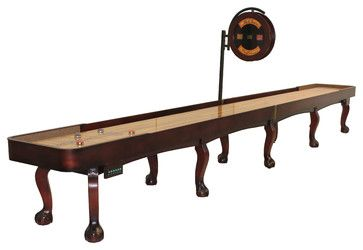 Ordinaire 22u0027 Mahogany Edmore Shuffleboard Table W/ Claw Legs From Grand Rapids By McClure  Tables