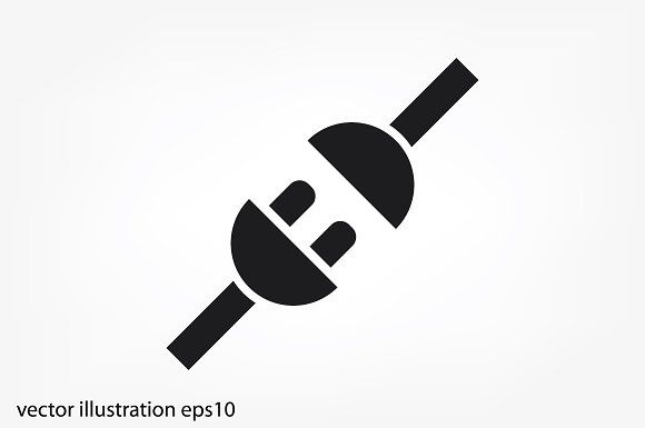 Electric plug and outlet icon by 007NATALIIA on