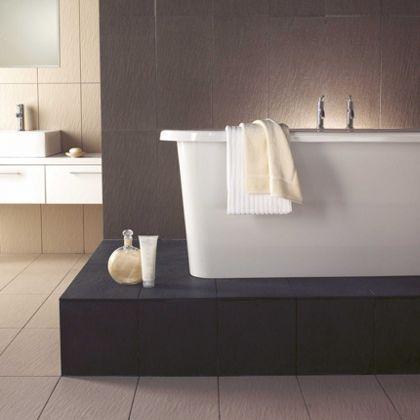 Bathroom Tiles Homebase vision wall and floor tiles - mud - 30 x 60cm - 5 pack at homebase