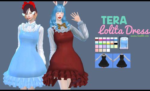 Yume}, TS4 Tera Lolita Dress Mesh&Texture from TERA