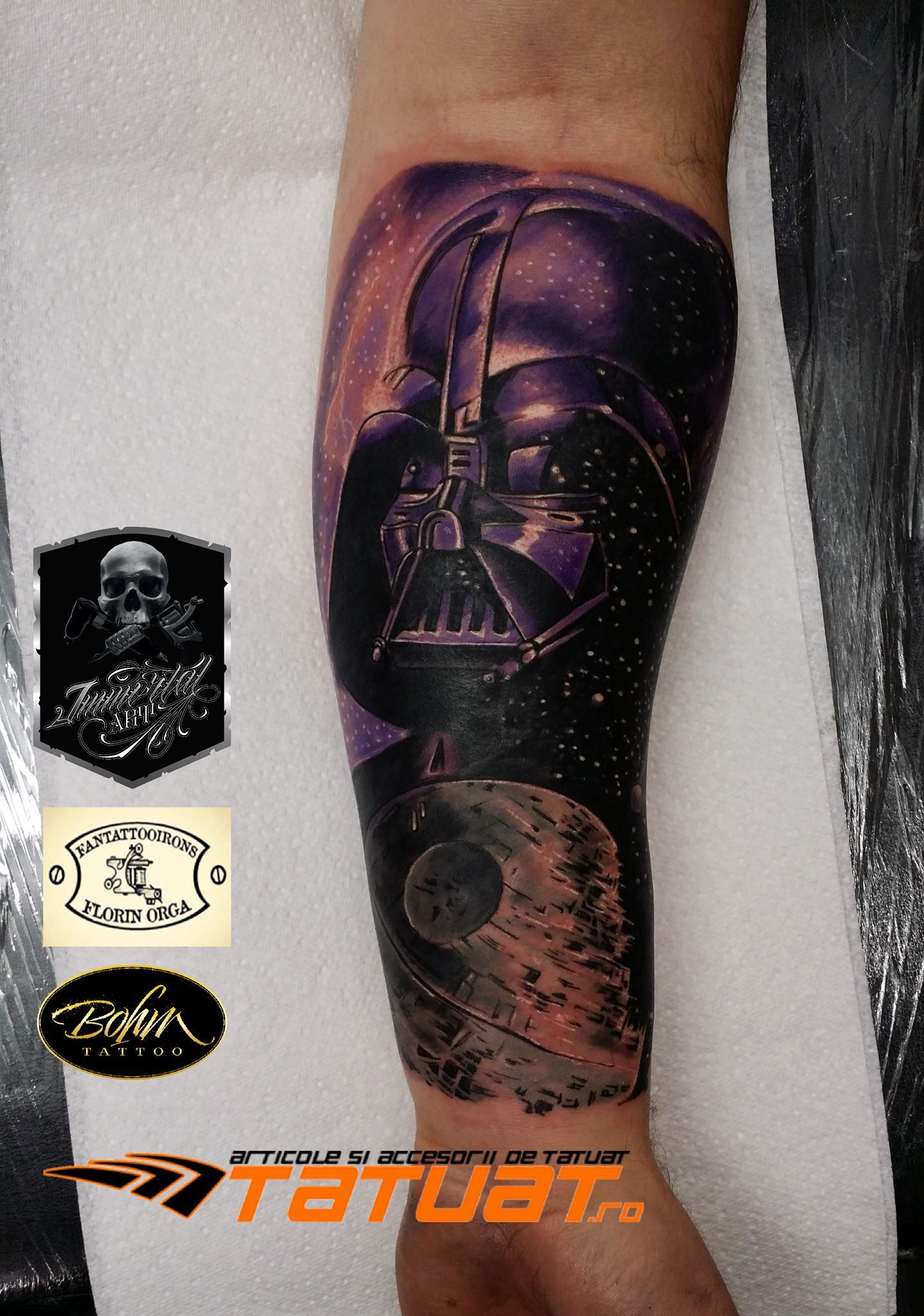 Darth vader star wars tattoo by robby limited