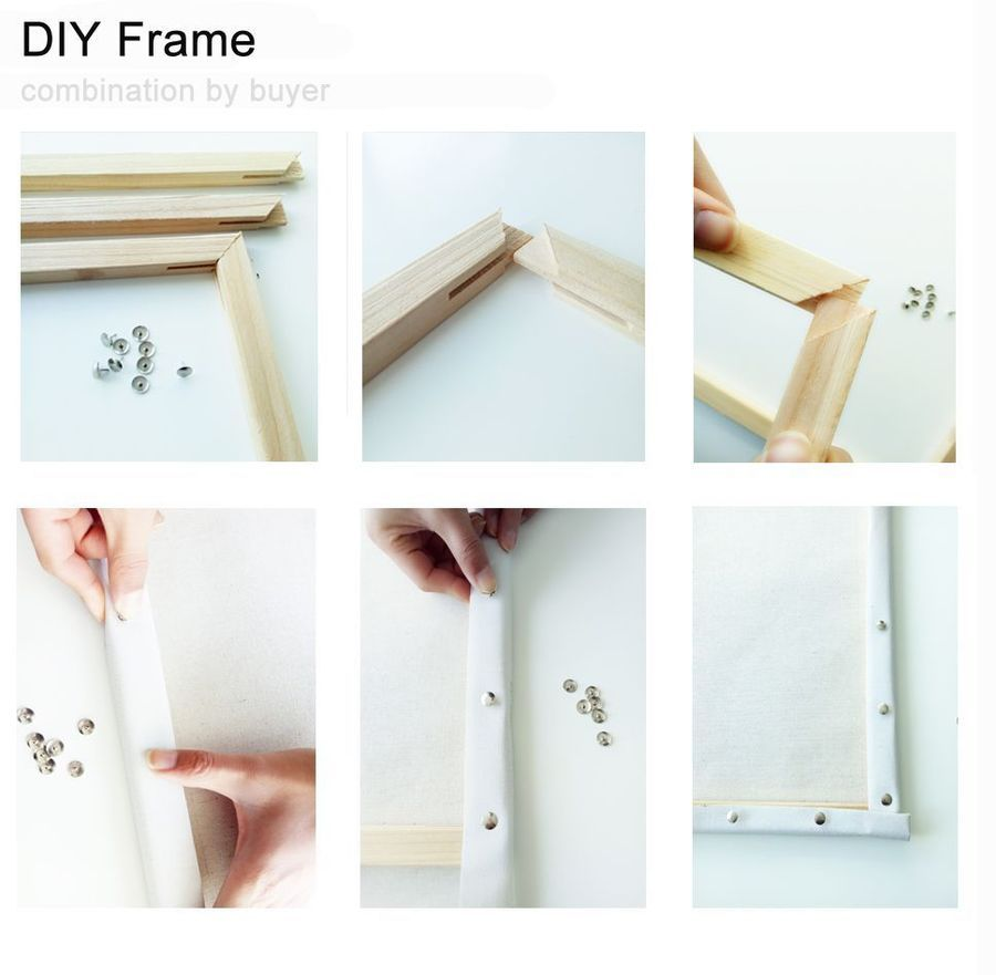Diy Oil Painting By Numbers Kits Wall Art Picture Frame Cherry