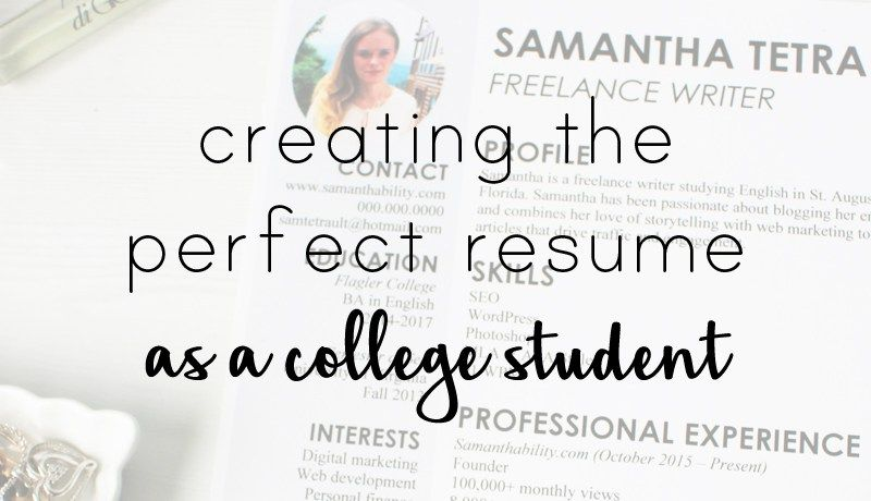 College Resume Experience and Design Tips Keep For Later by Pam