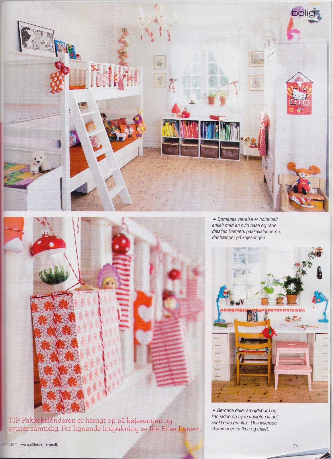 Bunk beds. Cheerful kids room. Mushrooms.
