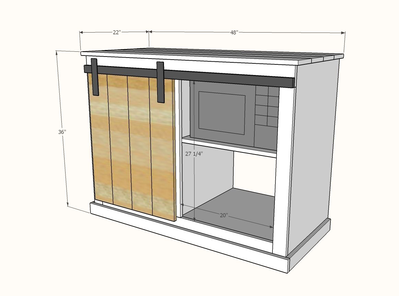 Barn Door Cabinet With Mini Fridge And Microwave Barn Door Cabinet Diy Barn Door Hardware Mini Fridge Cabinet