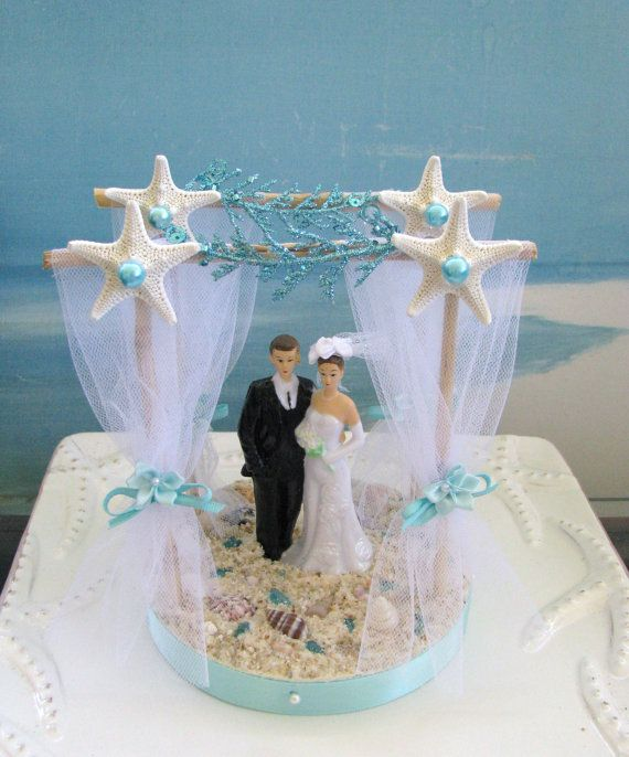 Pergola Beach Wedding Cake Topper Bride And Groom On A Beach Cake Topper Starfish Topper Beach Wedding Cake Toppers Beach Cake Topper Wedding Cake Toppers