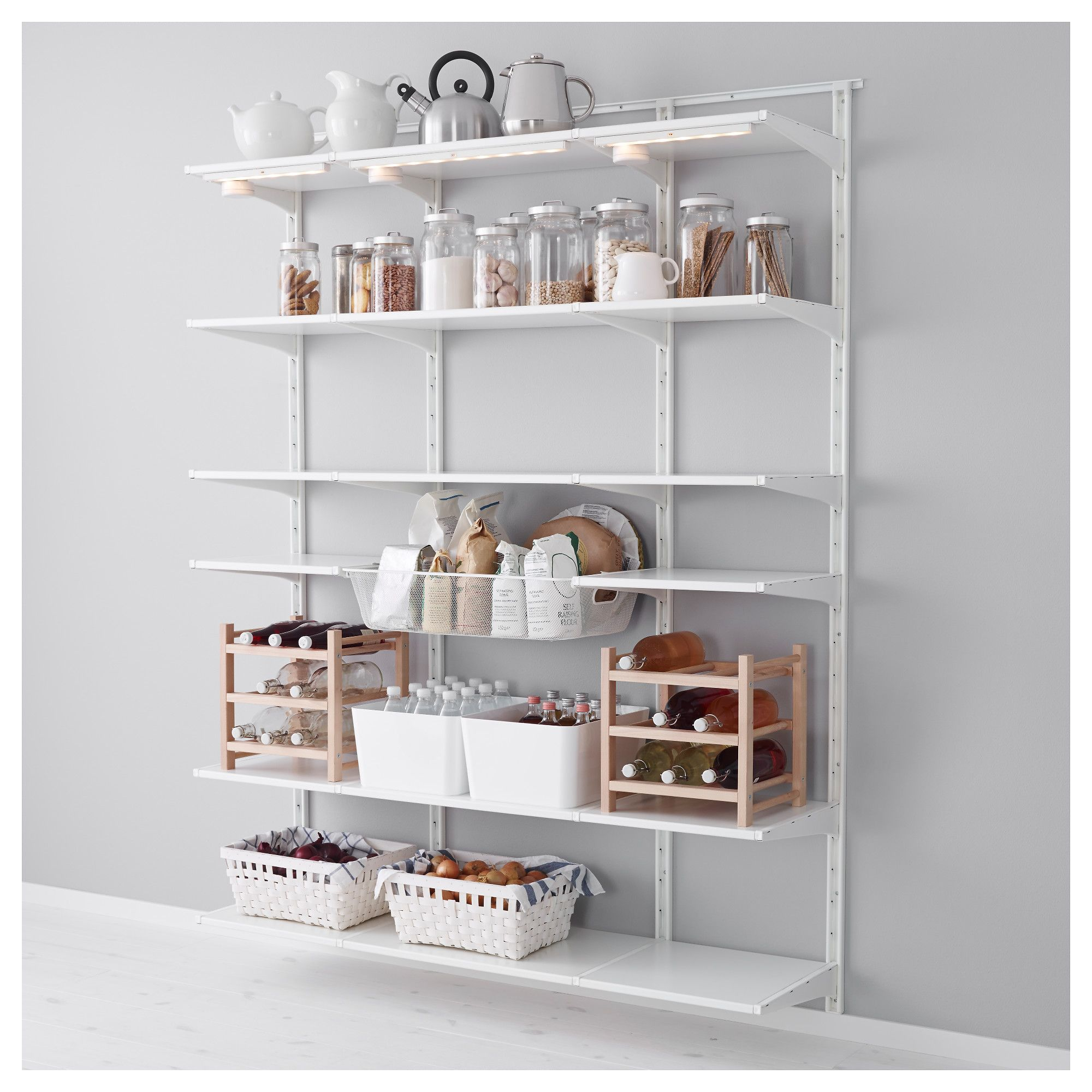 Ikea Algot Küche Ikea Algot Wall Upright Shelf And Basket The Parts In The