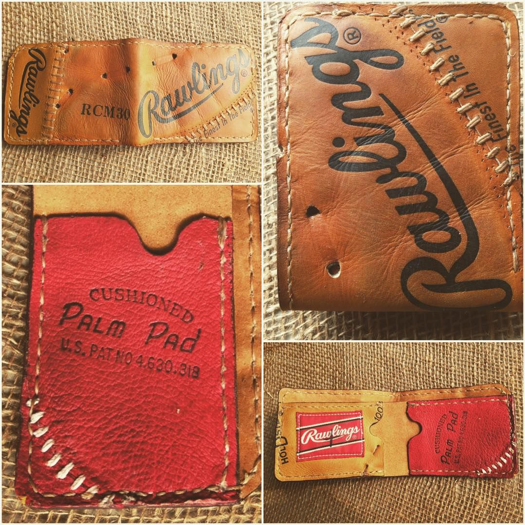 0d1c054abd4 Repurposed Baseball Glove Wallet by Salt River Leather on Etsy ...