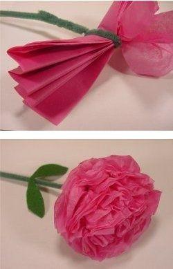 Tissue paper flower photo pinterest tissue paper and nappy cake tissue paper flower mightylinksfo