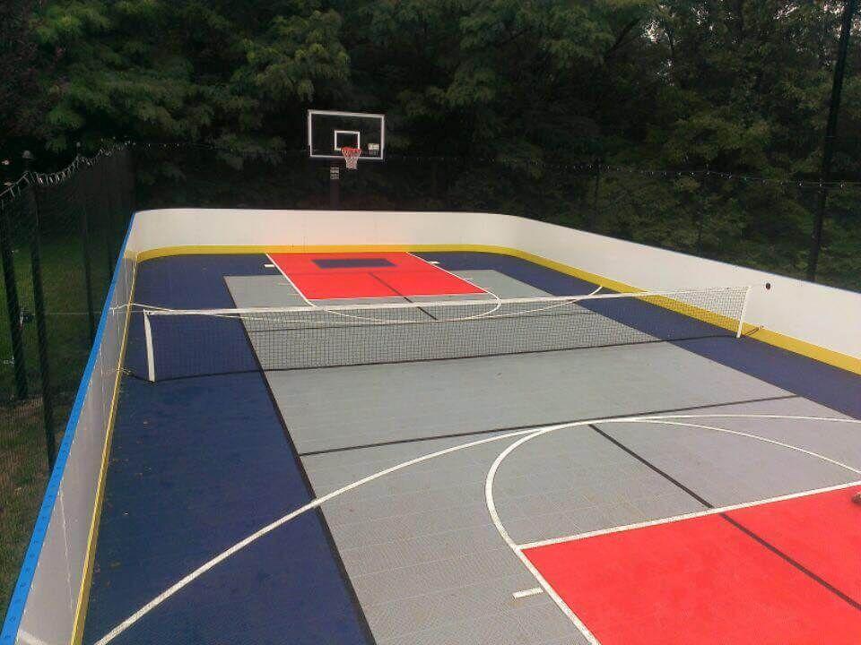 Game Sport Court Rink 30 X 60 Home Basketball Court Backyard Court Sports Court Flooring