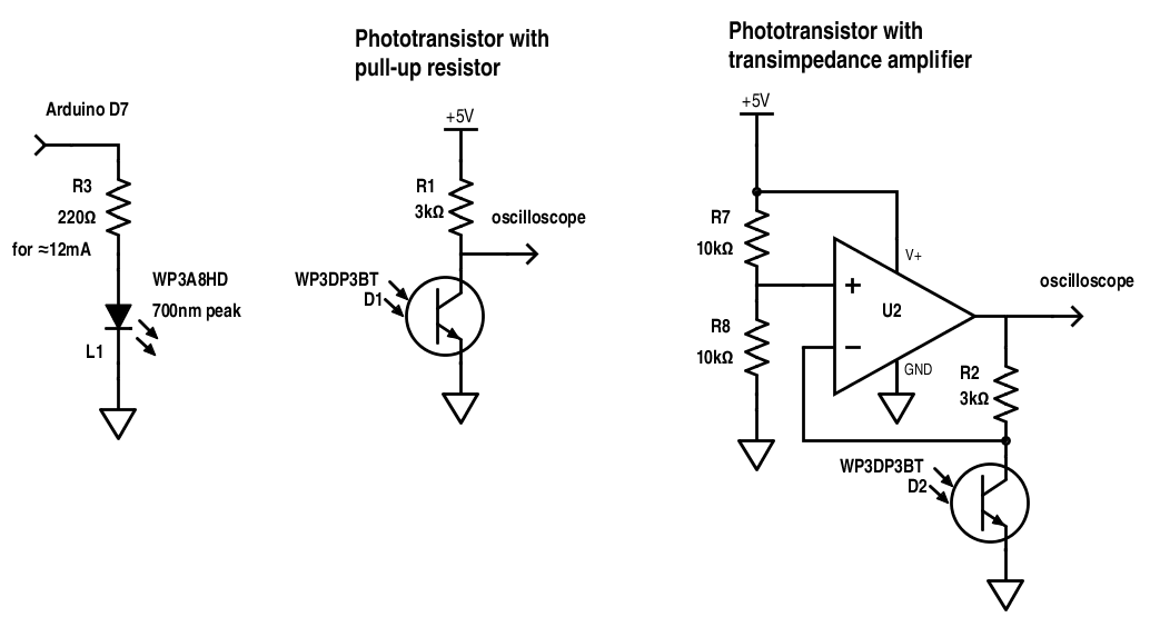phototransistor u202c converts the light energy falling on it
