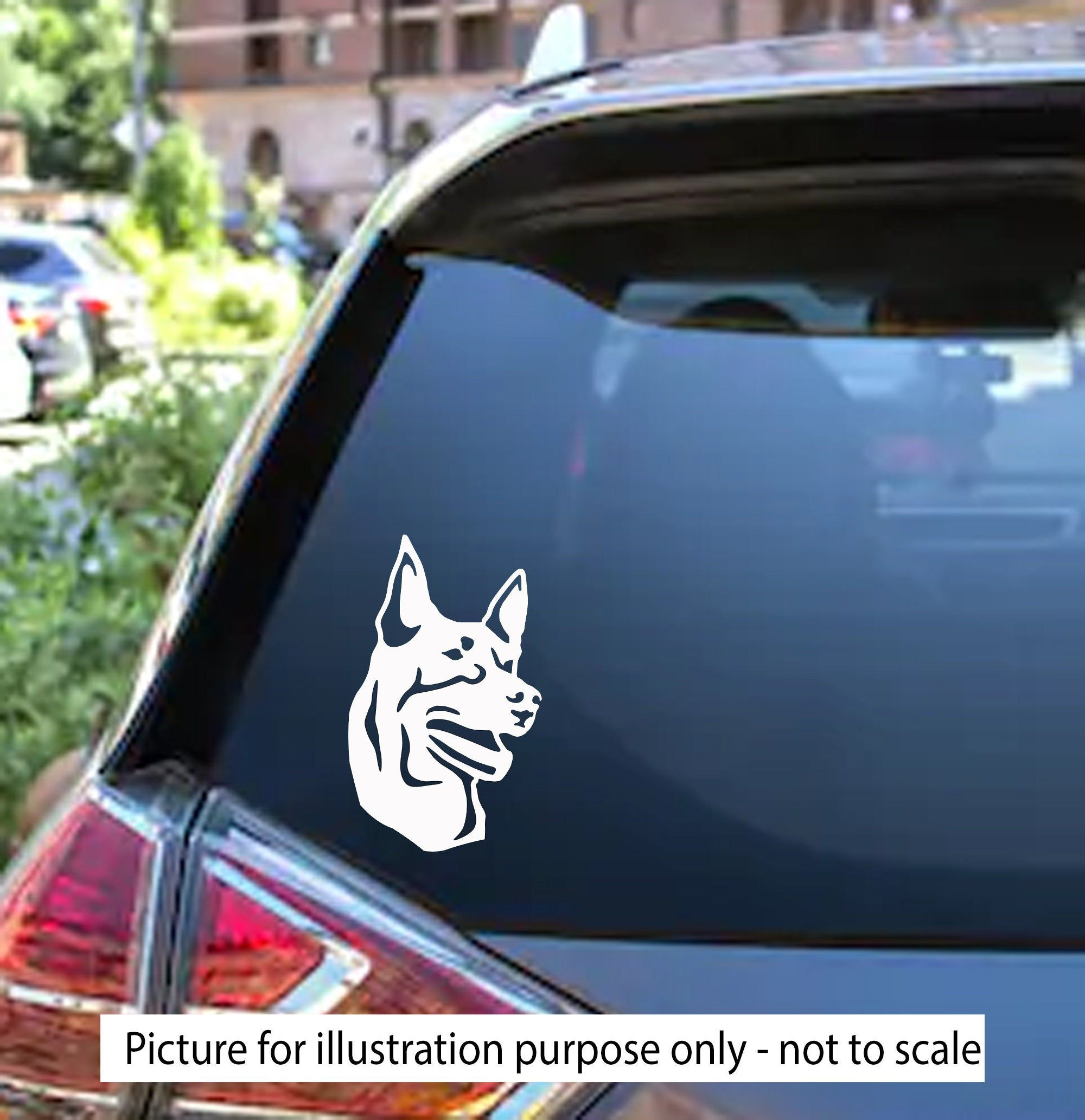 Kelpie Dog Decal Car Window Sticker Dog Decal Vinyl Decal Sticker Laptop Glass Phone Australian Kel Dog Decals Dog Decals Car Car Window Stickers [ 2066 x 2000 Pixel ]
